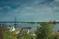 The Forth Road Bridge from Back Braes, South Queensferry, Lothian