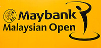 Signage during the preview days of the 2014 Maybank Malaysian Open at the Kuala Lumpur Golf & Country Club, Kuala Lumpur, Malaysia. Picture:  David Lloyd / www.golffile.ie