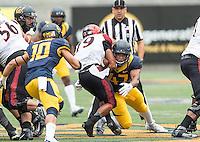 BERKELEY, CA - September 12, 2015: The Cal Bears Football team vs the San Diego State Aztecs at Memorial Stadium in Berkeley, California. Final score, Cal Bears 35, San Diego State Aztecs 7.