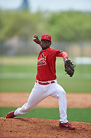 St. Louis Cardinals pitcher Jhonatan Escudero (39) during a Minor League Spring Training game against the New York Mets on March 31, 2016 at Roger Dean Sports Complex in Jupiter, Florida.  (Mike Janes/Four Seam Images)