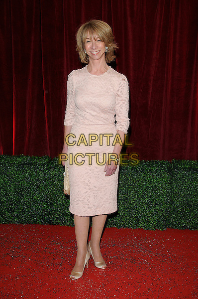 Helen Worth.Coronation Street .Attending the British Soap Awards 2012.at the London Television Centre, London, England, UK, 28th April 2012..arrivals  full length nude cream beige lace dress top long sleeve skirt  gold silk satin shoes  .CAP/CAN.©Can Nguyen/Capital Pictures.