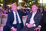 Boris Becker and Paul Scholes during the Opening Ceremony of the the World Celebrity Pro-Am 2016 Mission Hills China Golf Tournament on 20 October 2016, in Haikou, China. Photo by Weixiang Lim / Power Sport Images