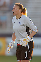 Boston Breakers goalkeeper Kristin Luckenbill (1).  Boston Breakers defeated The Washington Freedom 3-1 at The Maryland SoccerPlex,  Saturday April 18, 2009.
