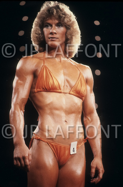 Atlantic City, NJ, April 24, 1981. Lisa Elliot at the Women's World Bodybuilding Championships.
