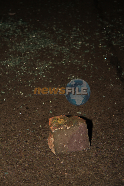 Five cars were broken into in the car park of the Abbey Shopping Centre on Friday night, 23/09/11. (Apparently a man was arrested at the scene, but no goods were recovered). (Note: piece of rock was on the ground near one of the cars and shattered glass. I presume it was the object used to break the windows, but I haven't heard anything official regarding that)..Picture: Shane Maguire / www.newsfile.ie