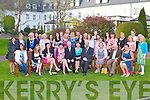 RETIREMENT: Gary Brown, Killarney (16 years service) and Brigid O'Hea, Cork (10 years service) (seated 5th & 6th left) who retired from IT Tralee celebrating with family and friends at the Ballygarry House hotel and Spa on Thursday.