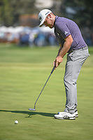 Tyrell Hatton (ENG) watches his putt on 9 during round 4 of the World Golf Championships, Mexico, Club De Golf Chapultepec, Mexico City, Mexico. 3/4/2018.<br /> Picture: Golffile | Ken Murray<br /> <br /> <br /> All photo usage must carry mandatory copyright credit (&copy; Golffile | Ken Murray)
