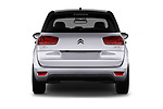 Straight rear view of 2017 Citroen C4-Picasso Shine 5 Door Mini Mpv Rear View  stock images