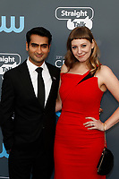 Kumail Nanjiani and screenwriter Emily V. Gordon attend the 23rd Annual Critics' Choice Awards at Barker Hangar in Santa Monica, Los Angeles, USA, on 11 January 2018. Photo: Hubert Boesl - NO WIRE SERVICE - Photo: Hubert Boesl/dpa /MediaPunch ***FOR USA ONLY***