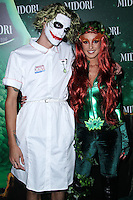 WEST HOLLYWOOD, CA - OCTOBER 29: Josh Beech, Shenae Grimes at 3rd Annual Midori Green Halloween Party held at Bootsy Bellows on October 29, 2013 in West Hollywood, California. (Photo by Xavier Collin/Celebrity Monitor)