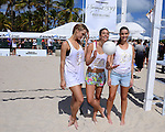 MIAMI BEACH, FL - FEBRUARY 20: Hannah Ferguson, Lauren Mellor and Sara Sampaio participates in Sports Illustrated Swimsuit 2014 Beach Volleyball:Models & Celebrity Chefs on February 20, 2014 in Miami Beach, Florida. (Photo by Johnny Louis/jlnphotography.com)