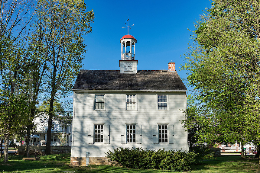 The Academy schoolhouse at Ephrata Cloister, Ephrata , Pennsylvania, USA Circa 1837