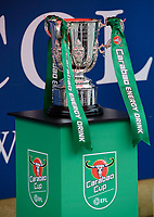 A close up of the Carabao Cup in the Lincoln City fan zone prior to the game<br /> <br /> Photographer Chris Vaughan/CameraSport<br /> <br /> The Carabao Cup Second Round - Lincoln City v Everton - Wednesday 28th August 2019 - Sincil Bank - Lincoln<br />  <br /> World Copyright © 2019 CameraSport. All rights reserved. 43 Linden Ave. Countesthorpe. Leicester. England. LE8 5PG - Tel: +44 (0) 116 277 4147 - admin@camerasport.com - www.camerasport.com