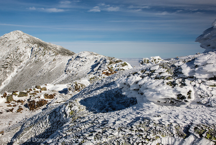 Appalachain Trail - Mount Lincoln from Little Haystack Mountain during the winter months in the White Mountains, New Hampshire USA