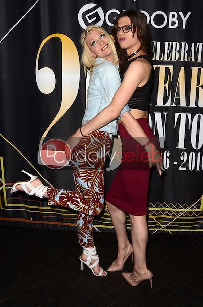 Brooke Zanell, Brooklyn Roberts<br /> at the Grooby 20th Anniversary Party, Bardot, Hollywood, CA 08-12-16<br /> David Edwards/DailyCeleb.com 818-249-4998