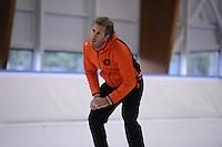 SCHAATSEN: LEEUWARDEN: 09-10-2015, Elfstedenhal, Training topsport, Trainer/Coach Rutger Tijssen, ©foto Martin de Jong