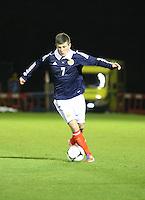 Matthew Kennedy in the Scotland v Armenia UEFA European Under-19 Championship Qualifying Round match at New Douglas Park, Hamilton on 9.10.12.