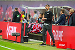 07.10.2018, Red Bull Arena, Leipzig, GER, 1. FBL 2018/2019, RB Leipzig vs. 1. FC N&uuml;rnberg/Nuernberg,<br /> <br /> DFL REGULATIONS PROHIBIT ANY USE OF PHOTOGRAPHS AS IMAGE SEQUENCES AND/OR QUASI-VIDEO.<br /> <br /> im Bild<br /> <br /> <br /> Trainer Michael K&ouml;llner/Koellner (#tr, 1. FC Nuernberg), <br /> <br /> Foto &copy; nordphoto / Dostmann