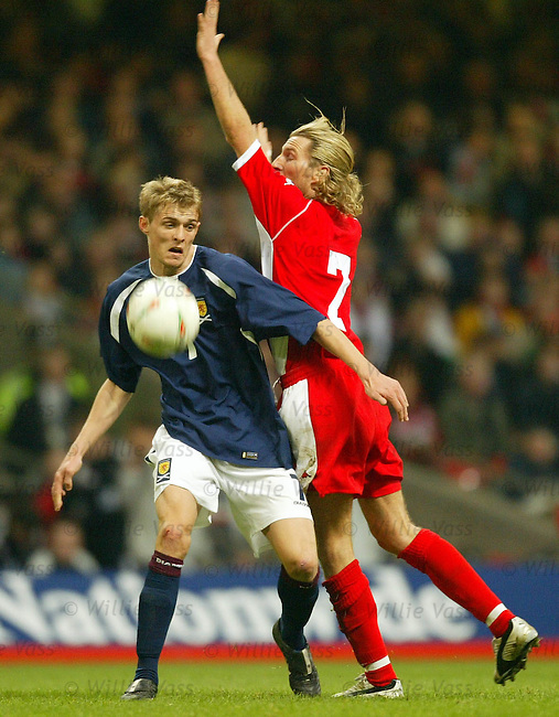 Darren Fletcher, Scotland.Stock Season 2003-2004.pic willie vass