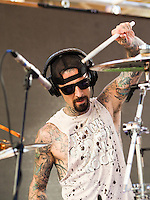 LAS VEGAS, NV - Jlu 23, 2016: ***HOUSE COVERAGE*** Travis Barker pictured as Travis Barker performs at  REHAB Pool Party at Hard Rock Hotel & Casino in Las vegas, NV on July 23, 2016. Credit: GDP Photos/ MediaPunch