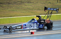 Sept. 22, 2012; Ennis, TX, USA: NHRA top fuel dragster driver Antron Brown during qualifying for the Fall Nationals at the Texas Motorplex. Mandatory Credit: Mark J. Rebilas-