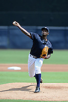 New York Yankees pitcher Luis Severino (21) during an Instructional League game against the Toronto Blue Jays on September 24, 2014 at George M. Steinbrenner Field in Tampa, Florida.  (Mike Janes/Four Seam Images)
