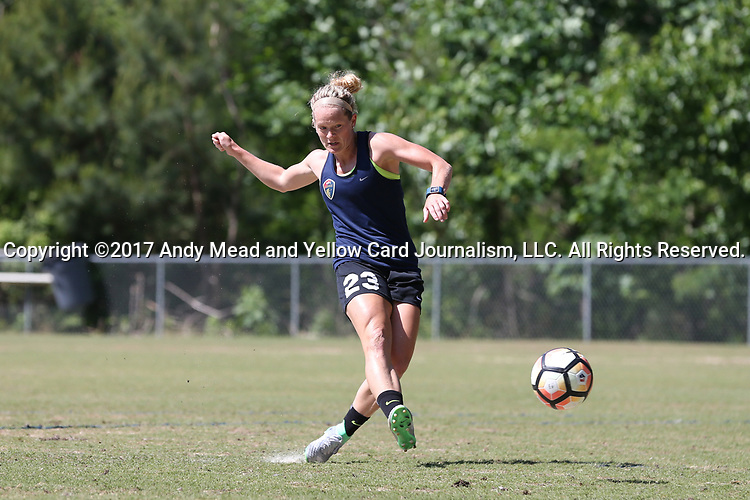 CARY, NC - MAY 04: Kristen Hamilton. The North Carolina Courage held a training session on May 4, 2017, at WakeMed Soccer Park Field 6 in Cary, NC.