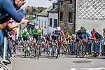Peloton at Cote de Saint-Roch, Houffalize, Belgium, 27 April 2014, Photo by Pim Nijland / www.pelotonphotos.com