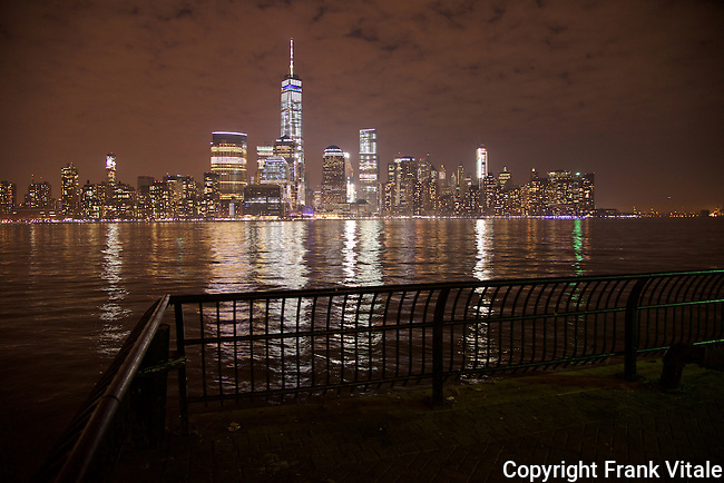 Freedom Tower at Night from Jersey City