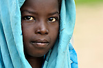 A girl in Geles, an Arab village in Darfur.