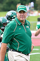 October 2, 2010:    Jacksonville Dolphins head coach Kirwin Bell during Pioneer Football League action between the San Diego Toreros and Jacksonville University Dolphins at D. B. Milne Field in Jacksonville, Florida.   Jacksonville defeated San Diego 35-28.