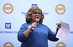 Keynote speaker Isabelle Rodriguez Wilson speaks at the annual Western Nevada College Foundation Scholarship Appreciation &amp; Recognition Celebration in Carson City, Nev., on Friday, March 9, 2018. <br /> Photo by Cathleen Allison/Nevada Momentum