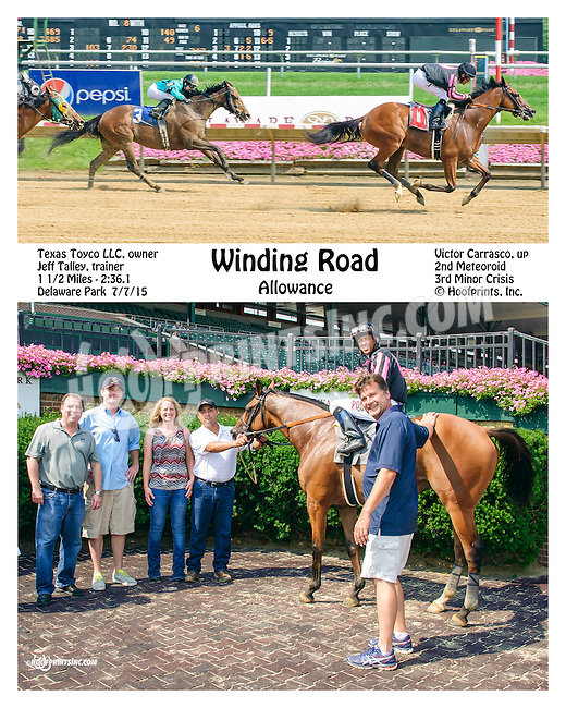 Winding Road winning at Delaware Park on 7/7/15