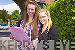 Beatrice Dennesen and Louise Langston from Brookfield College took their first Leaving Cert. exam on Wednesay morning.