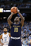 CHAPEL HILL, NC - FEBRUARY 12: Notre Dame's Temple TJ Gibbs. The University of North Carolina Tar Heels hosted the University of Notre Dame Fighting Irish on February 12, 2018 at Dean E. Smith Center in Chapel Hill, NC in a Division I men's college basketball game. UNC won the game 83-66.