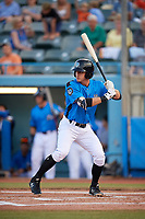 Hudson Valley Renegades shortstop Ford Proctor (7) at bat during a game against the Tri-City ValleyCats on August 24, 2018 at Dutchess Stadium in Wappingers Falls, New York.  Hudson Valley defeated Tri-City 4-0.  (Mike Janes/Four Seam Images)