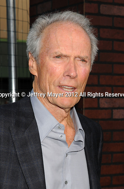 WESTWOOD, CA - SEPTEMBER 19: Clint Eastwood arrives at the 'Trouble With The Curve' at Mann's Village Theatre on September 19, 2012 in Westwood, California.