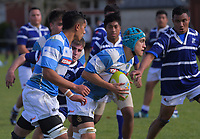 Action from the Wellington secondary schools 2nd XV rugby match between St Patrick's Silverstream College and St Patrick's College (Town) at St Pat's Silverstream College in Wellington, New Zealand on Saturday, 25 May 2019. Photo: Dave Lintott / lintottphoto.co.nz