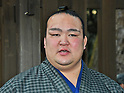 Kisenosato attends sumo ring-entering ceremony at Meiji Shrine