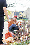 Raleigh, North Carolina - Thursday March 24, 2016 - Jennifer Sanford-Johnson is the farm manager at the Well Fed Community Garden in Raleigh.