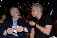Roma, 18 Giugno 2017<br /> Massimo D'Alema, Nichi Vendola<br /> Assemblea al Teatro Brancaccio per costruire un'alleanza popolare per la Democrazia e l'Uguaglianza, una Alternativa a Sinistra del Partito Democratico.