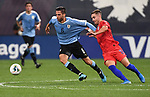 Rodrigo Bentancur (left) of Uruguay and Tyler Boyd of the United States vie for the ball during an international friendly game  on September 10, 2019 at Busch Stadium in St. Louis, Missouri USA<br /> AFP Photo by Tim VIZER