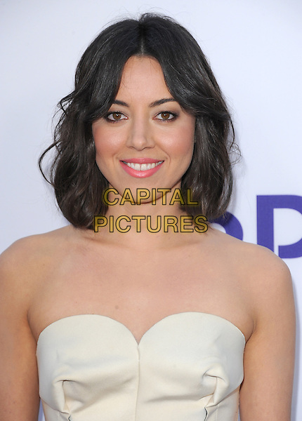 Aubrey Plaza  <br /> &quot;The To Do List&quot; Los Angeles Premiere held at the Regency Bruin Theatre, Westwood, California, USA.<br /> July 23rd, 2013<br /> headshot portrait white strapless  <br /> CAP/DVS<br /> &copy;DVS/Capital Pictures
