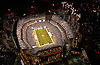 Aerial  view of Philadelphia Eagles vs Cleveland Browns at Lincoln Financial Field on December 15th 2008 Monday Night Game during Pregame Ceremony. ([Julia Robertson]/via AP Images)