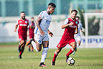 Bruno da Silva Sabino R&F F.C (L) in action against Shay Phillip Spitz of Kwoon Chung Southern (R) during the week three Premier League match between Kwoon Chung Southern and R&F at Aberdeen Sports Ground on September 16, 2017 in Hong Kong, China. Photo by Marcio Rodrigo Machado / Power Sport Images