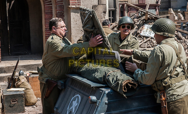 John Goodman, George Clooney, Dimitri Leonidas<br /> in The Monuments Men (2014) <br /> *Filmstill - Editorial Use Only*<br /> CAP/FB<br /> Image supplied by Capital Pictures