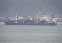 The Container Ship Lorraine in the South China Sea, Hong Kong on 8.4.19.