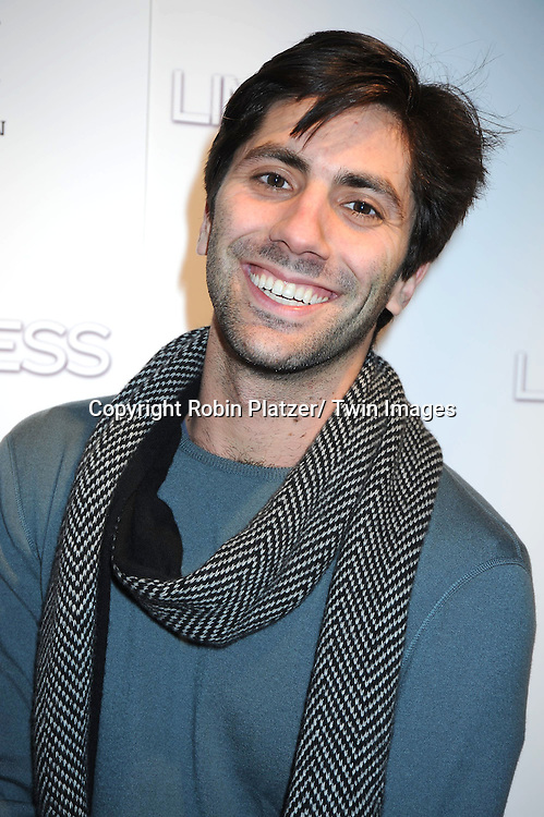 "Nev Schulman attending The World Premiere of ""Limitless"" .starring Robert De Niro, Bradley Cooper and Abbie Cornish on March 8, 2011 at the .Regal Union Square 14 Theatre in New York City. The premiere was presented  by DELEON Tequila."