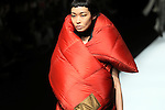 March 16, 2016, Tokyo, Japan - A model displays creation designed by Danish designers Anne Sofie Madsen during her 2016 autum/winter collection in Tokyo on Wednesday, March 16, 2016 as a part of Tokyo Fashion Week. Tokyo Fashion Week started here from March 14 through 19.  (Photo by Yoshio Tsunoda/AFLO) LWX -ytd-