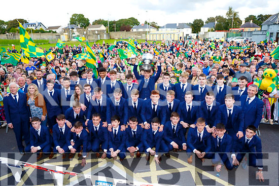 Captain David Clifford and the Kerry minors got a great reception when the arrived home to Killarney on Monday evening